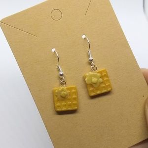 Waffles With Butter Earrings